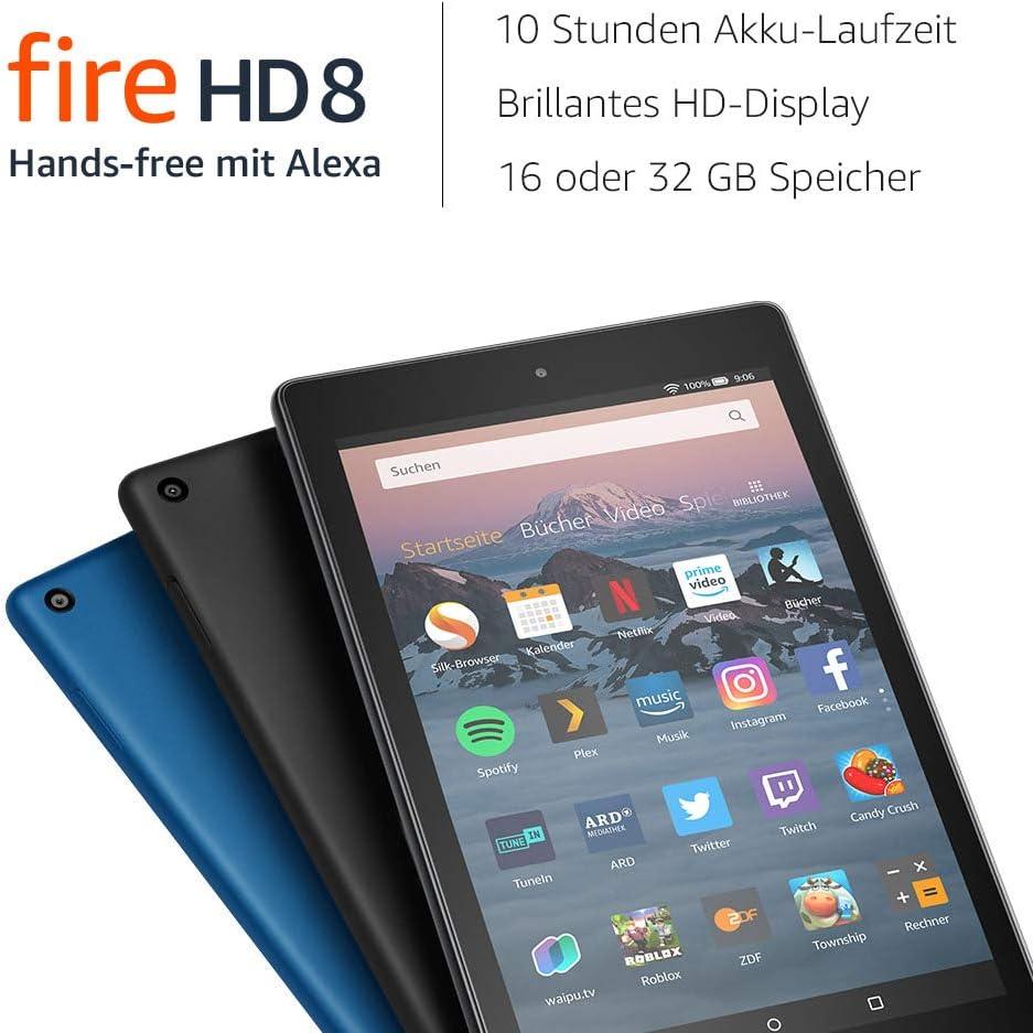 Fire Hd 8 Tablet Mit Alexa Zertifiziert Und Generalüberholt 8 Zoll Hd Display 32 Gb Schwarz Mit Werbung Vorherige Generation 8 Amazon Devices