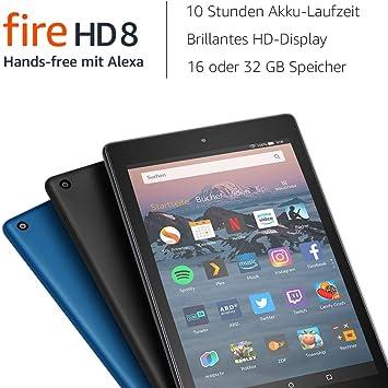 Fire Hd 8 Tablet Mit Alexa Zertifiziert Und Generalüberholt 8 Zoll Hd Display 16 Gb Schwarz Mit Werbung Vorherige Generation 8 Amazon Devices