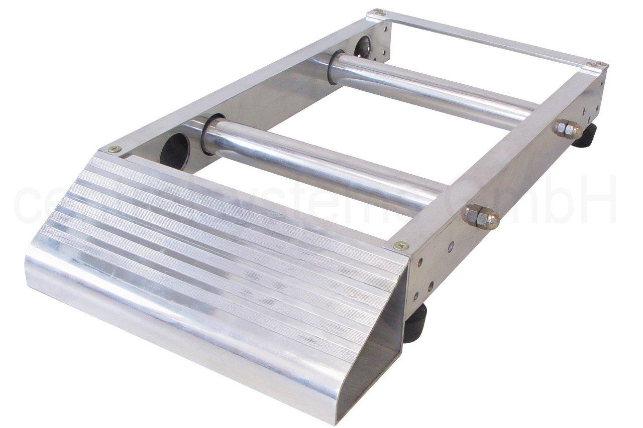 Profi Alu Kabelabroller für Kabeltrommeln bis 256 mm Breite B06XTW464Y | Primäre Qualität