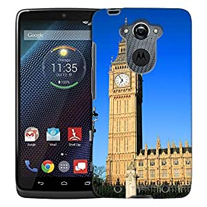 Motorola Droid Turbo Case, Slim Fit Snap On Cover by Trek House of Parliament and Big Ben Trans Case
