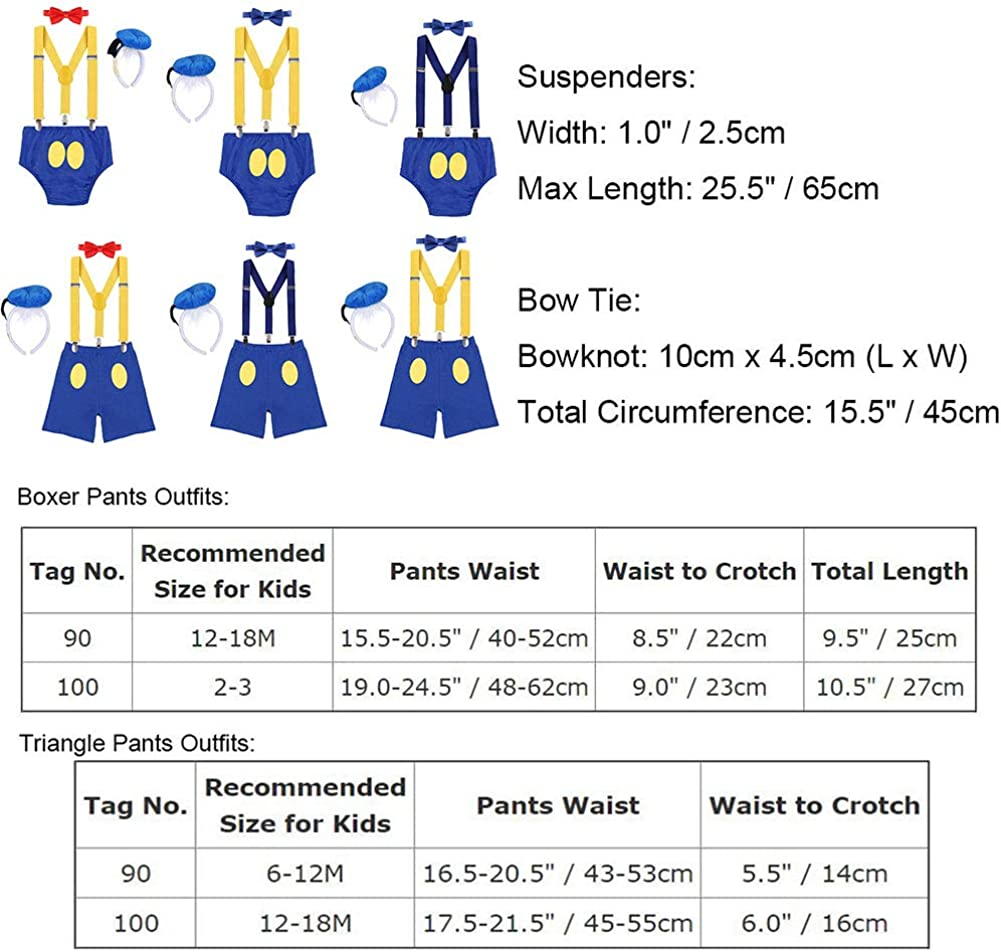 Headband Bowtie Suspender FYMNSI Baby Boys Costume 1st//2nd Birthday Cake Smash 4pcs Outfits Shorts