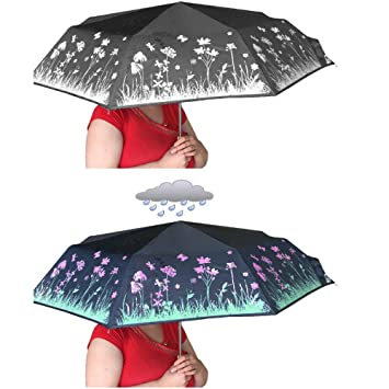 Paraguas que cambia de color