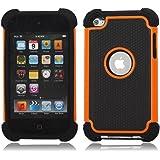 ユニークなデザイン iPod Touch4 第4世代 ケース/カバー ipod touch 4用シリコンケース  オレンジ  並行輸入品