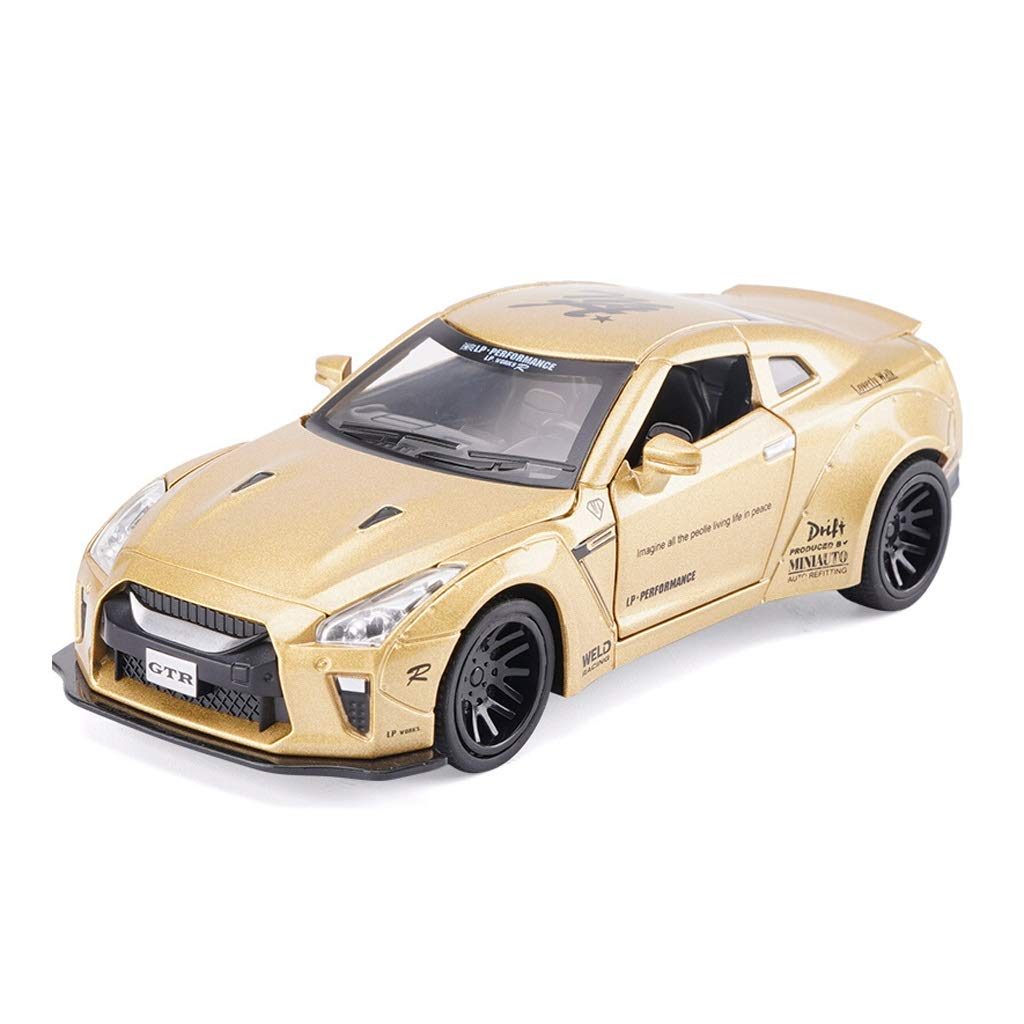 gold Model Car Nissan GTR Car Model 1 32 Scale Model Die-Casting Model Alloy Model Static Model Decoration Gift Decoration (color   Red)