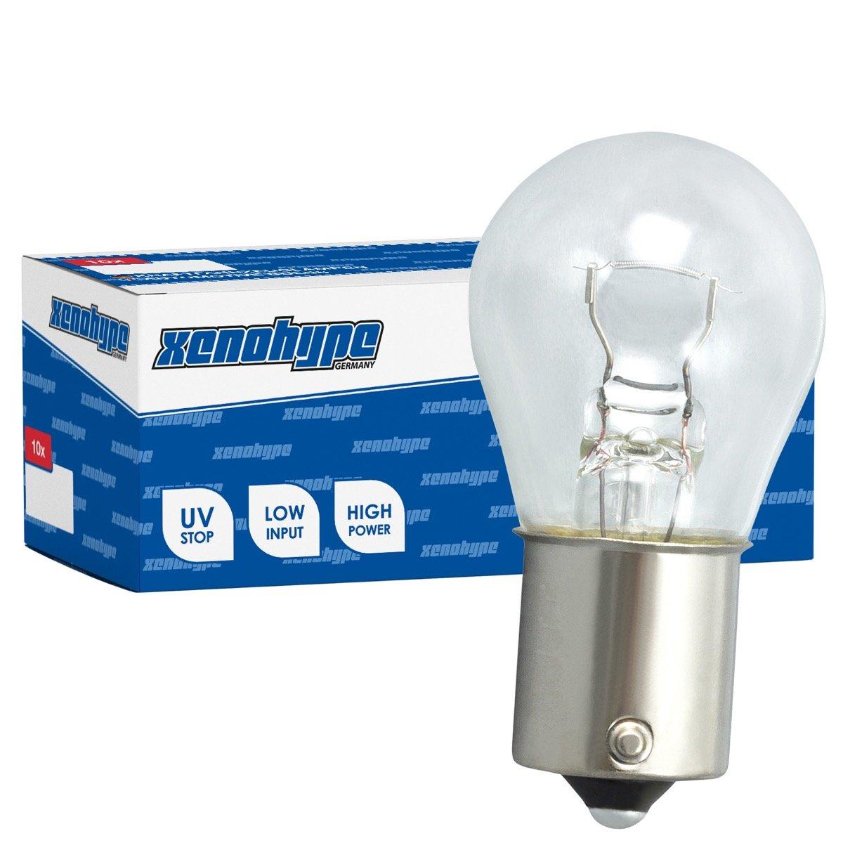 10x P21W XENOHYPE Premium BA15s 24V 21 Watt LKW Kugellampe