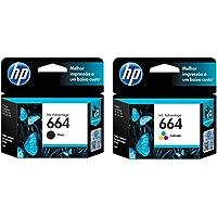 Kit Cartuchos de Tinta HP 664 | 2136 | 4536 Black + Color Original 2ml