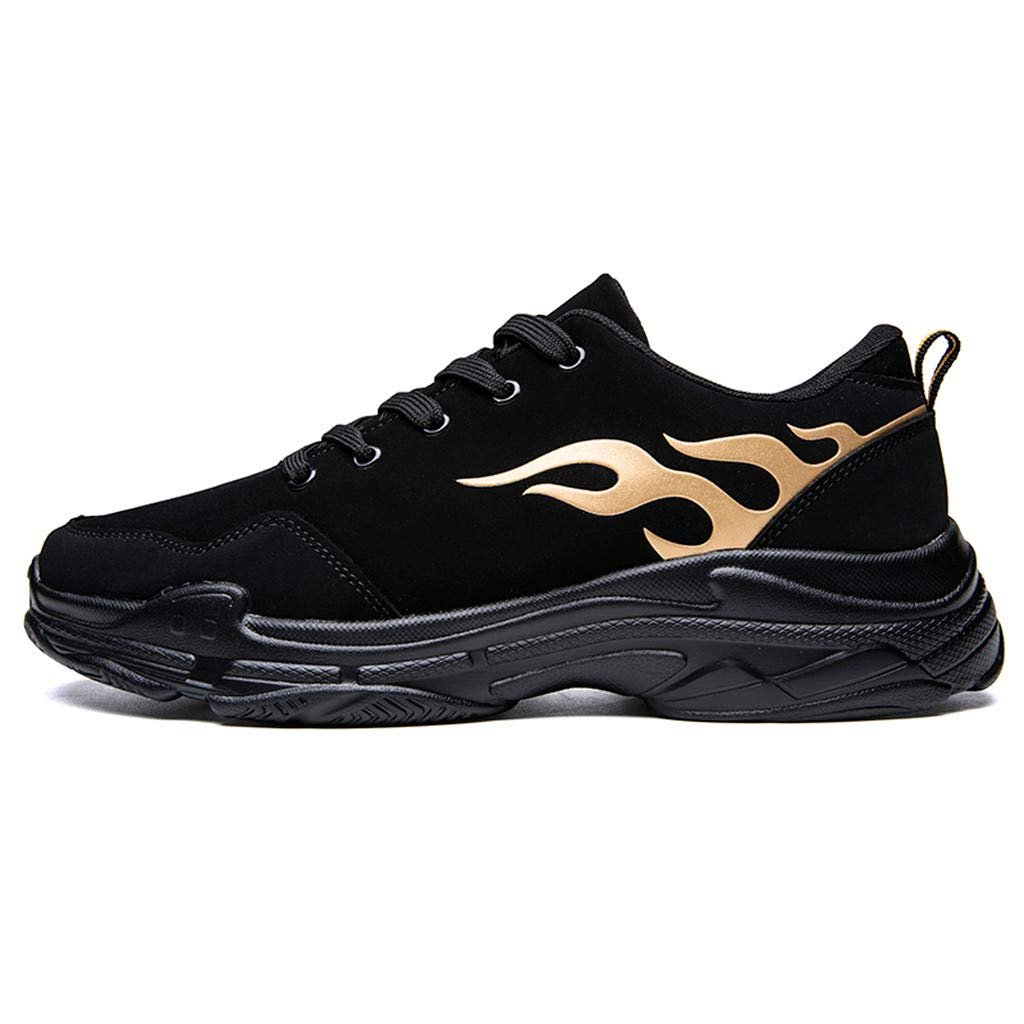 Casual Sneakers for Men の 2019 Fall-Winter Fashion Shoes Street-Style Cool Mens Trainers Hip Hop Black Sneakers