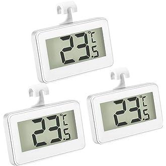 refrigerador de acero inoxidable Term/ómetro para refrigerador y congelador herramienta de medici/ón de temperatura para refrigerador congelador Gelentea