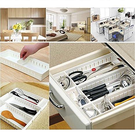 Adjustable Diy Drawer Organizer Home Kitchen Board Divider Makeup Storage Box