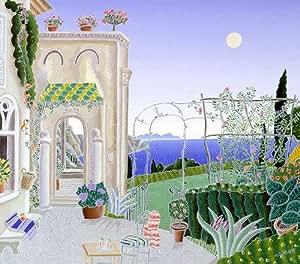 Thomas McKnight - Ravello Garden Serigraph on Canvas