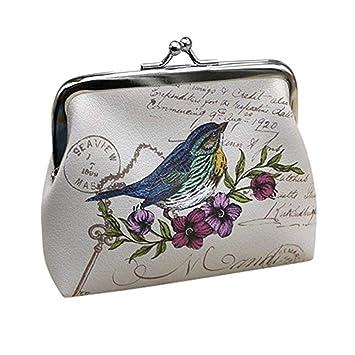 Amazon.com: Goreway - Monedero para mujer, diseño de flores ...