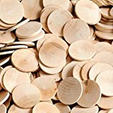 """Package of 100 1.5"""" Round Disc Unfinished Wood Cutouts - Ready to Be Painted and Decorated"""