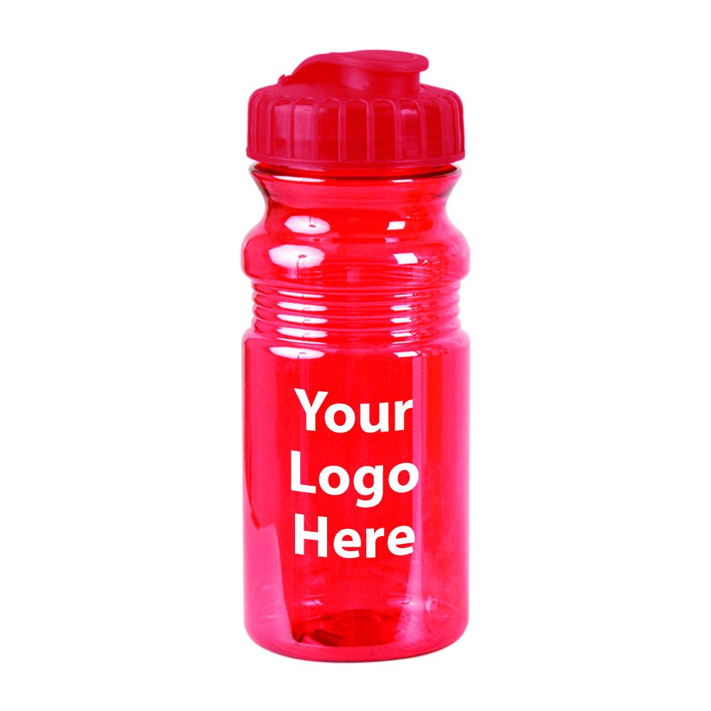 20 Oz. Translucent Sport Bottle w/ Snap Cap - 100 Quantity - $2.65 Each - PROMOTIONAL PRODUCT / BULK / BRANDED with YOUR LOGO / CUSTOMIZED