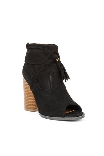 76e52676e6f Hadari Women s Open Peep Toe Tassel Heel Ankle Bootie