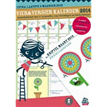 Vier en versier kalender 2014: maandplanner met 17 knipvellen voor feestdagen en kinderfeestjes