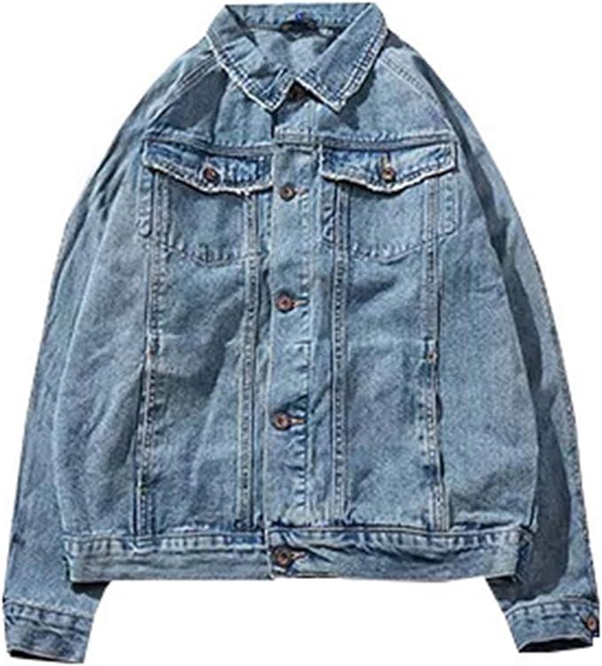Gジャン デニムジャケット メンズ ヴィンテージ風 ベーシック かっこいい 春秋 防風 防寒 ジージャン 大きいサイズ ゆったり ストレッチ 快適 合わせやすい プリント柄 ネイビー/ブルー XS-3XL