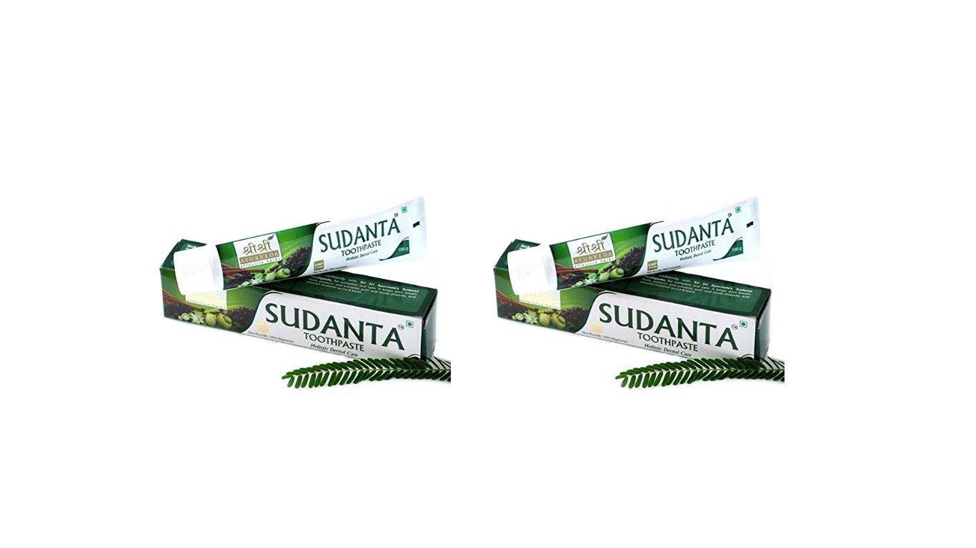 Sri Sri Ayurveda Sudanta Pasta de dientes 100 g (Pack de 2) Pankajkasthuri