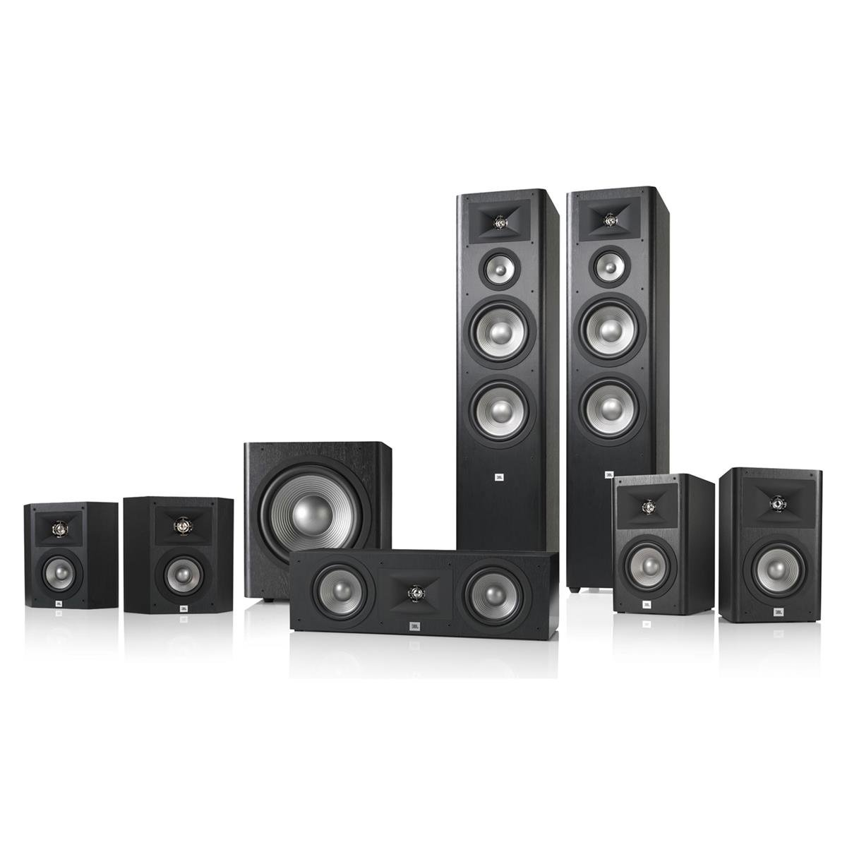 JBL Studio 290 7.1 Home Theater Speaker System Package (Black) by JBL