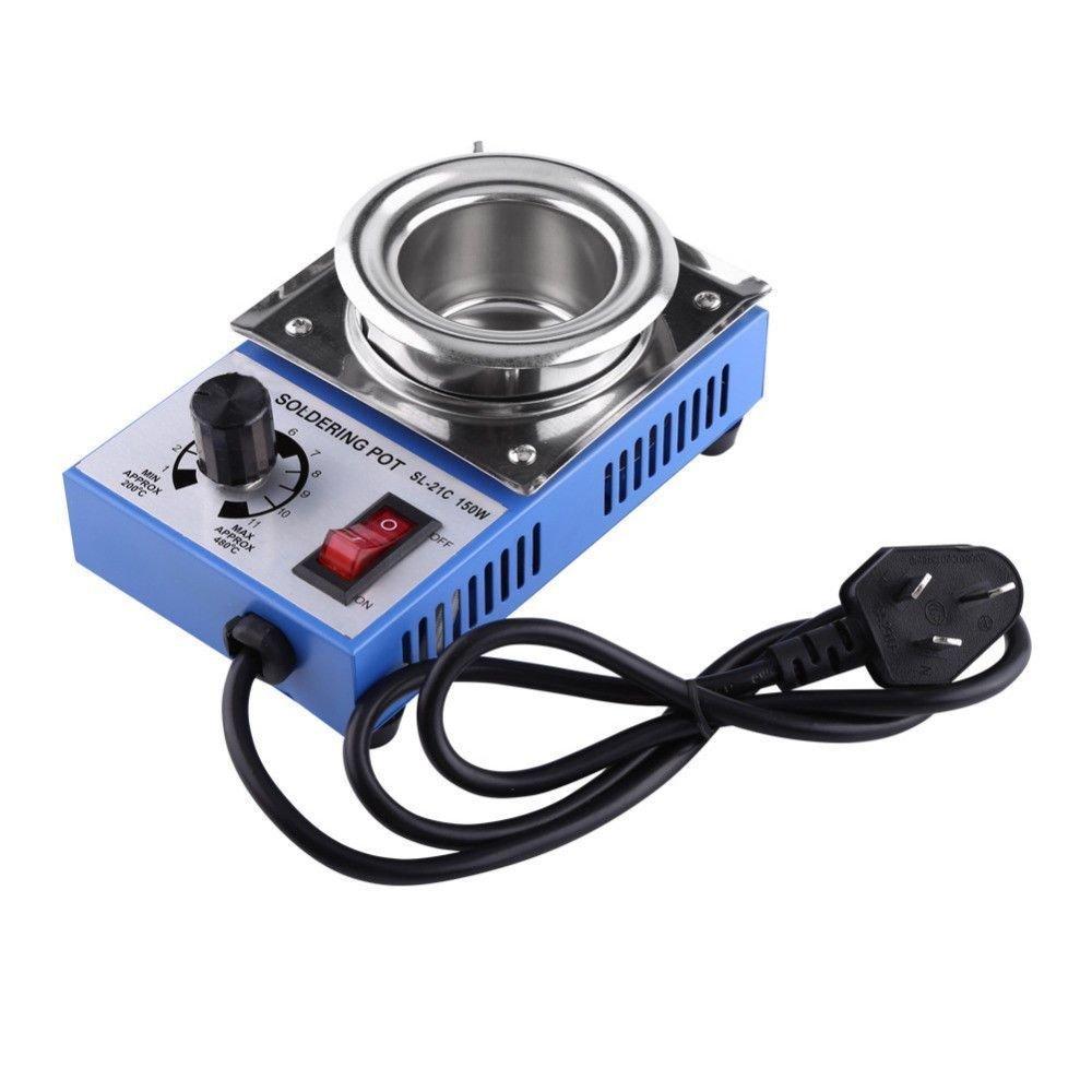 Wosonku 220V 150W Solder Pot Soldering Desoldering Bath 50mm 200-450℃ Degree Max: Amazon.es: Industria, empresas y ciencia