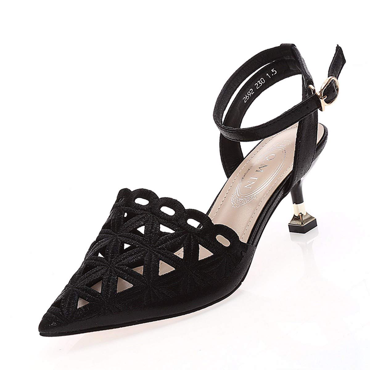HBDLH HBDLH HBDLH Damenschuhe Im Sommer Damen-Spitzen Ausgehöhlt 6 cm Hochhackigen Sandalen Leere Säcke Dünnen Schuhen. 67b836