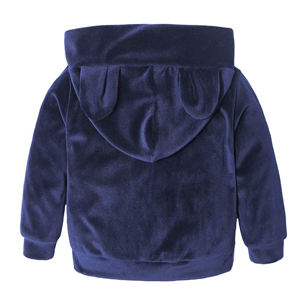 Velours dor Nouveau n/ée 2 pi/èces T-Shirt /à Manches Longues Top Pantalon Sport Casual 1-8 Ans Morbuy B/éb/é Gar/çon Fille V/êtements Ensemble