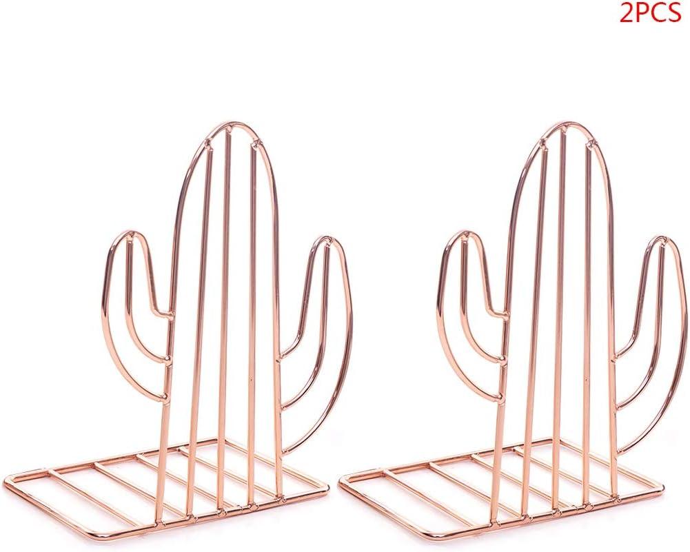2 fermalibri in metallo a forma di cactus Oro HavanaYZ