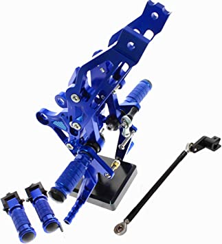Krace Motorcycle Rearsets Foot Pegs Rear Set Footrests Brake Shift Pedals Fully Adjustable Foot Boards Fit For Honda Grom MSX 125 2017 2018 2019 2020