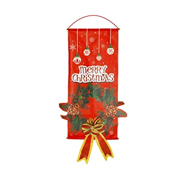 Amazon.com: Merry Christmas - Cartel para colgar en la ...