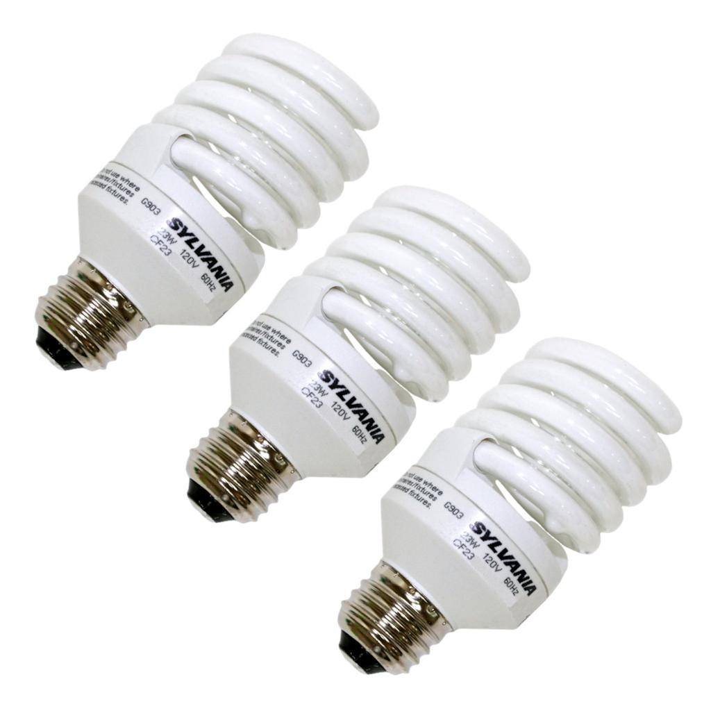 Sylvania 26352 - CF23EL/SPIRAL/865/RP3 (3-PACK) Twist Medium Screw Base Compact Fluorescent Light Bulb