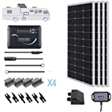 Renogy 400 Watts 12 Volts Monocrystalline Solar RV Kit Off-Grid Kit with Adventurer 30A PWM LCD Charge Controller+ Mounting B