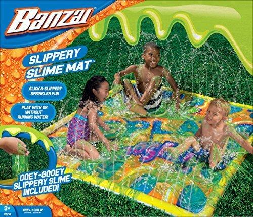 Banzai Slippery Slime Mat (Outdoor Backyard Summer Spring Slimy Slick Splash)