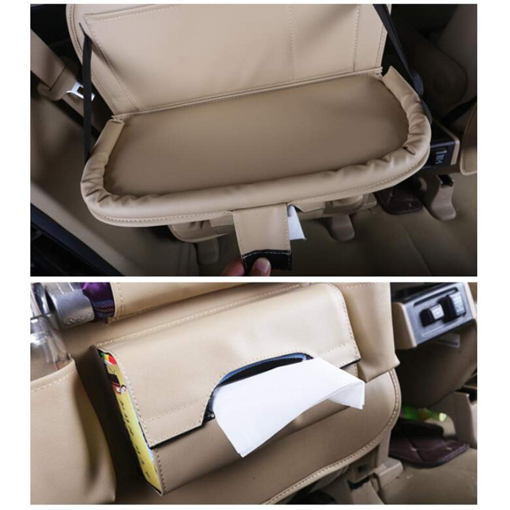 HongTeng Car Hanging Bag Rear Seat Storage Bag Outdoor Travel Accessories Leather Material (Color : C) by HongTeng (Image #4)