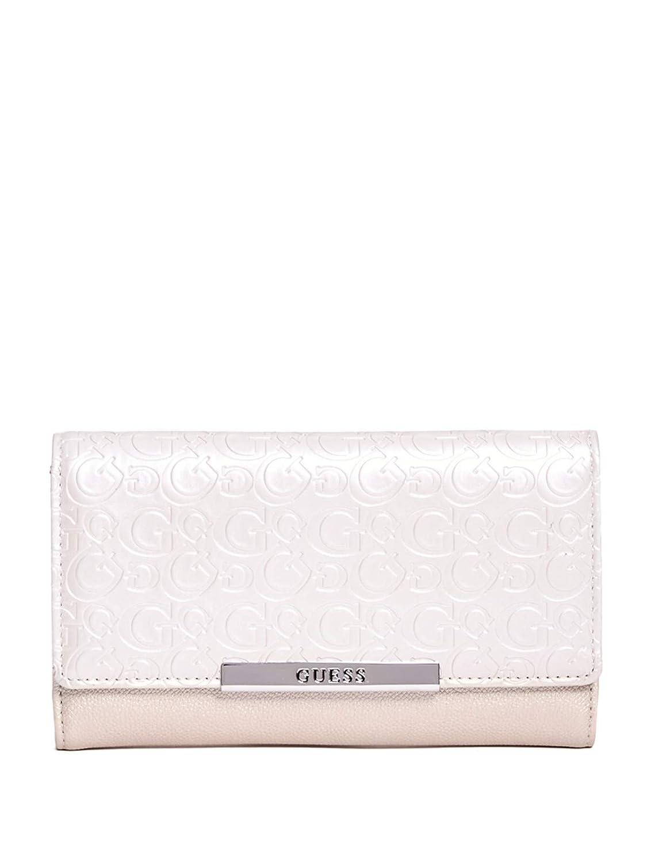 GUESS Factory Women's Ebony Logo-Debossed Slim Wallet GuessFactory