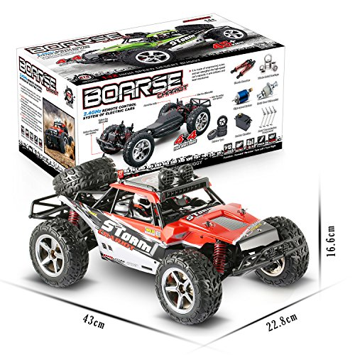 RC Cars, Abask All 45 + KM/H 1/12 Radio Remote Control Car High Speed Off-Road 2.4Ghz 4WD High-Performance...