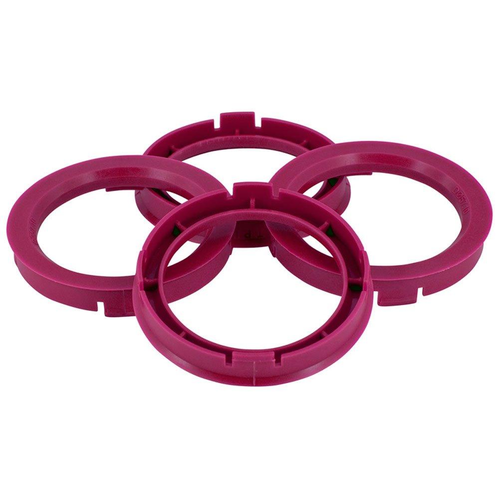 Set TPI Wheel hub rings - 72.5->66.1mm - Purple BX7256610-4