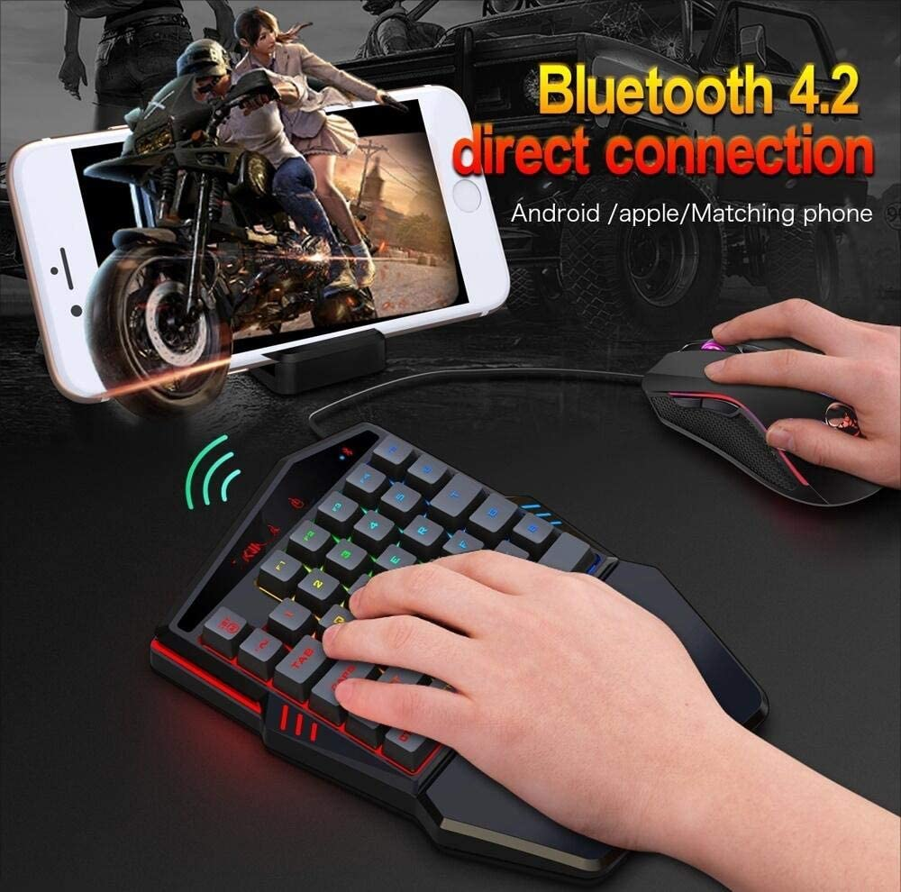 CHENFA K88 Bluetooth 4.2 Mobile Game Wireless Keyboard Wired Mouse Set