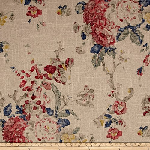 rdin Floral Summer Linen Fabric By The Yard (Laurens Linens)