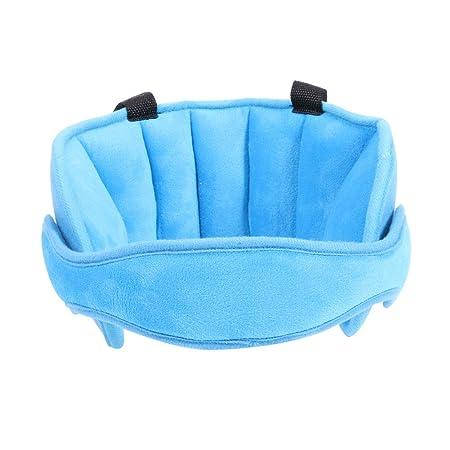 Sujeta cabezas Soporte Cabeza Sujeta Cabezas Coche para Niños Seguridad Asiento de coche Sueño Siesta Ayuda Holder Protector Cinturón - Matefield (Azul): ...