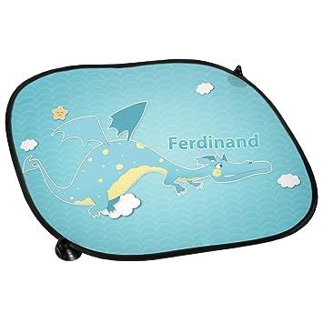 Sonnenblende Sichtschutz Auto-Blendschutz Auto-Sonnenschutz mit Namen Felix und Motiv mit Drache f/ür Jungen