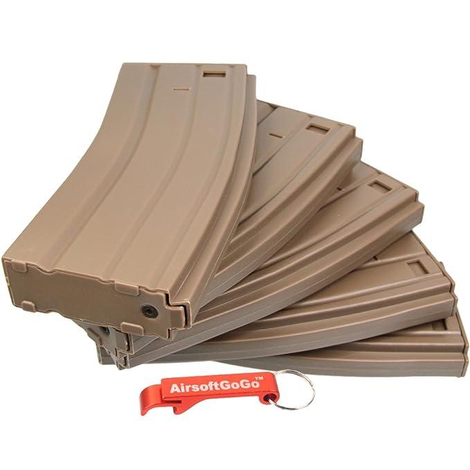 70rds Cargador para M4 Airsoft AEG (5pcs) (DE) - AirsoftGoGo Llavero Incluido