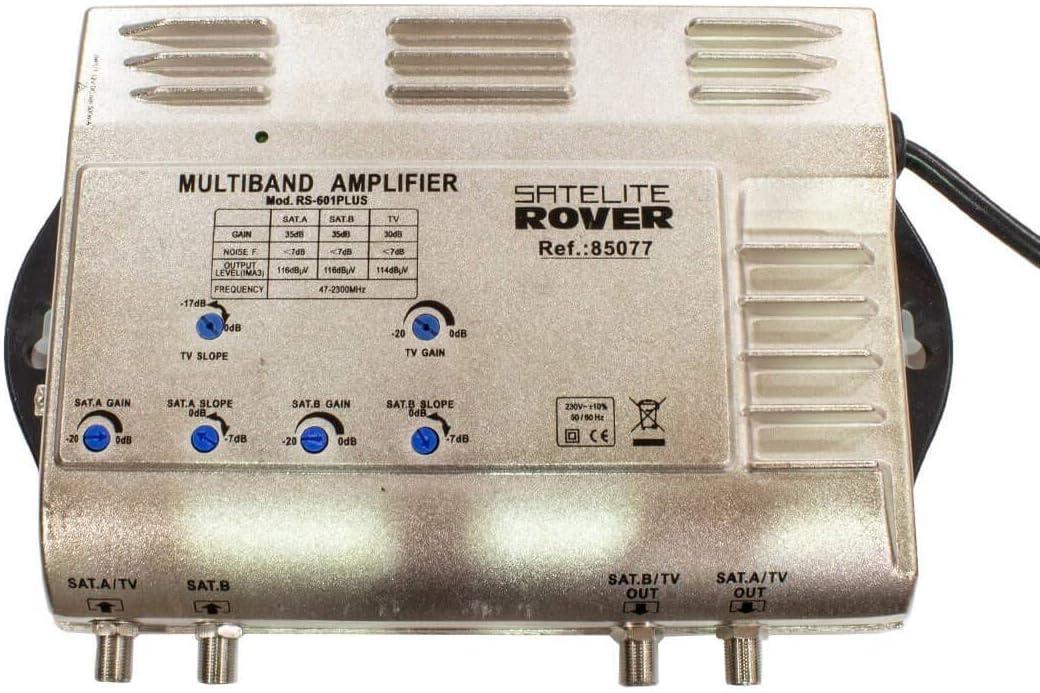 Central Amplificadora TV / SAT1 / SAT2 +35dB RS-601 Plus ...