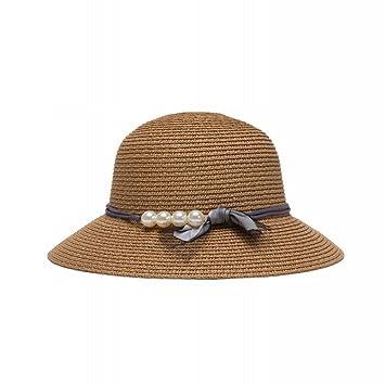 ZPD Sombra del Sol Sombrero de Paja de Encaje Vacaciones de Verano en el Mar  Visera 23907cf4d0b
