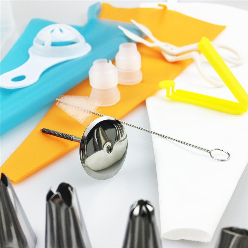 Perfectas herramientas de bricolaje para navidad Pasteles Bizcochos para decorar Pasteler/ía MKNZONE Juego de puntas de boquillas de boquillas de acero inoxidable de 12 piezas