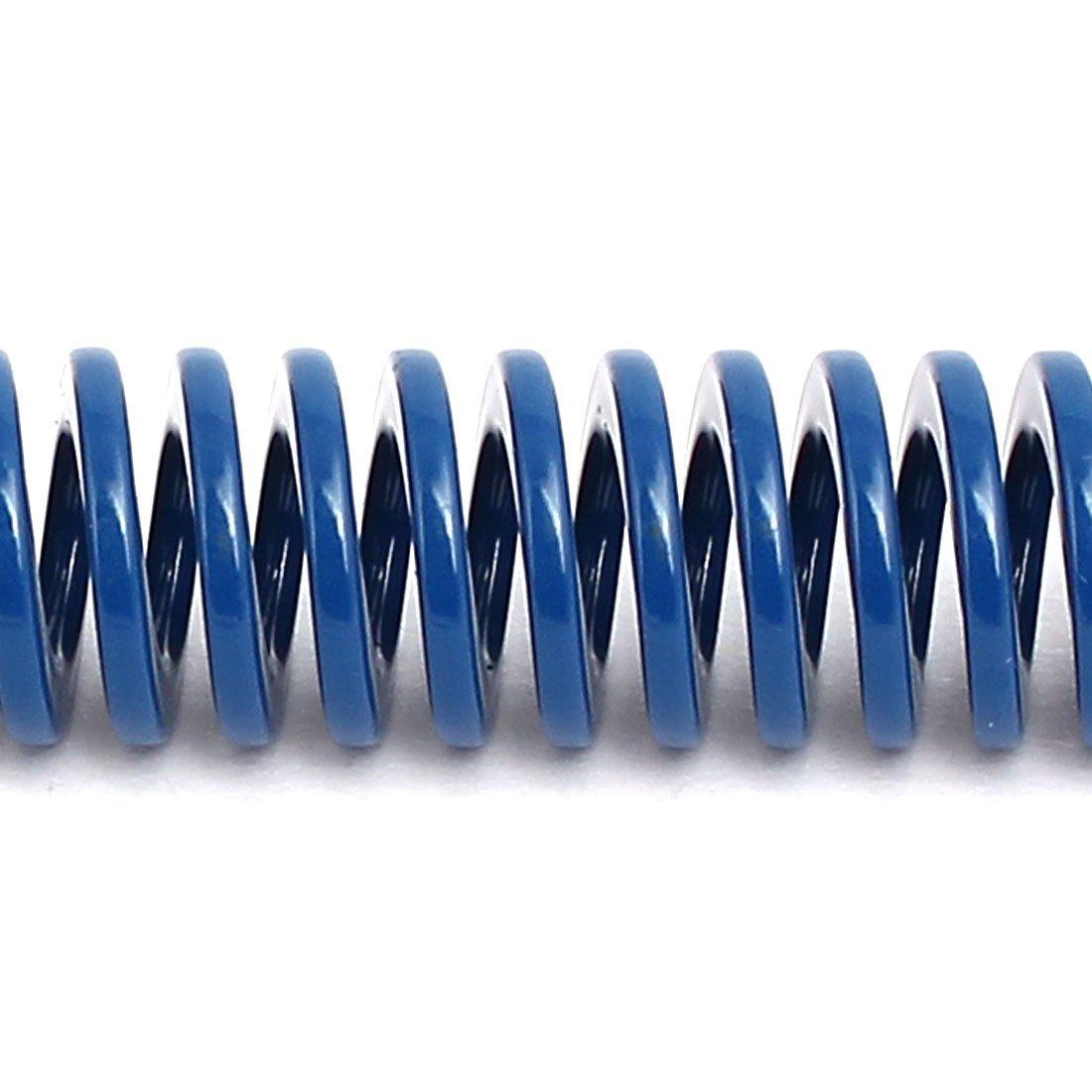 12mm Au/ßer Dmr sourcing map 5Stk 100mm L/änge Leicht Last Kompression Spiralfeder Blau de
