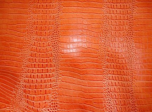 upholstery fabric orange - 7