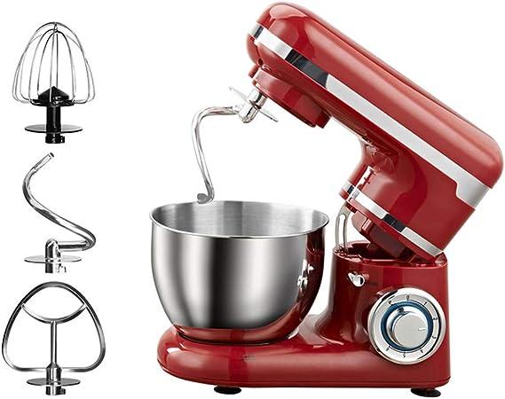 WXX Curve Robot de Cocina - Mezclador, 6 velocidades, Sistema de rotación planetaria, 4 litros, Carcasa metálica, Accesorios, Rojo: Amazon.es
