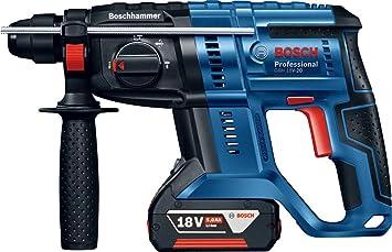 Bosch Professional 18V System Bohrhammer GBH 18V-26 D ohne Akku, max. Schlagenergie: 2,5 J, Wechselfutter SDS Plus, im Koffer