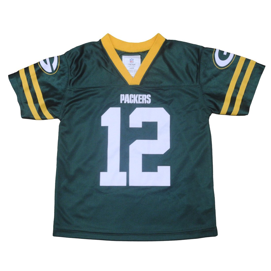 GB Packers Rodger # 12 Boys Athletic Short Sleeve Jersey M(5/6) グリーン B073WPM1B8