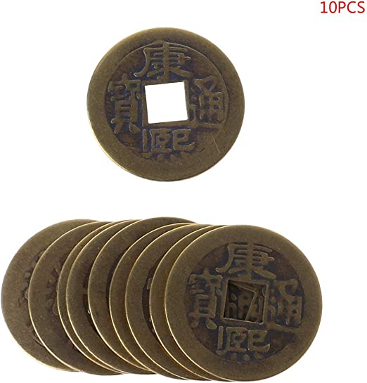 Set Ten Emperors Coins Chinese Copper Coin Old Dynasty Vintage Currency 10Pcs