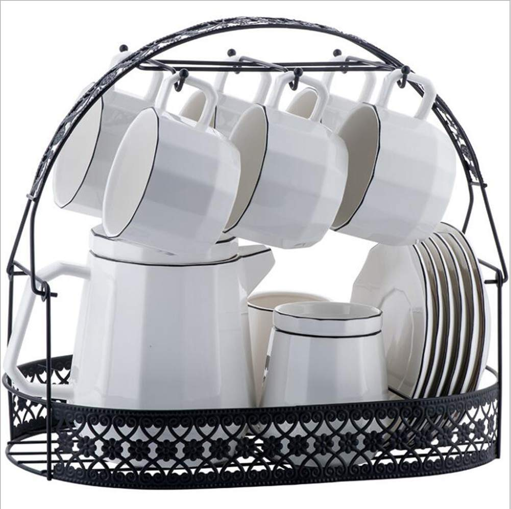 GAOXIAOMEI Creativo Simple Conjunto de café de cerámica nórdica de Gran Capacidad de Agua fría Olla de café con Taza de café Copa de Agua Set